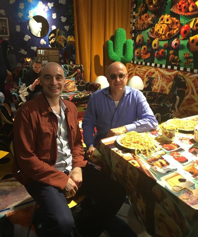 Ulvi Kasimov and Sam Keller, Director of Beyeler Foundation, at Art Basel Miami Beach